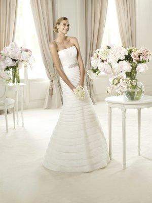 Pronovias Abito da sposa bianco-crema Seta