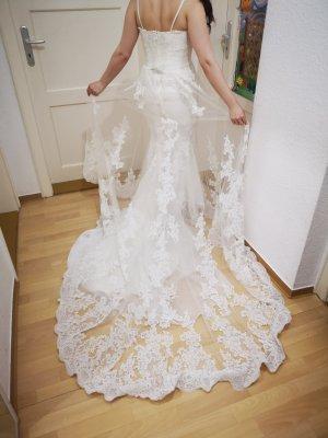 Pronovias Vestido de novia blanco puro