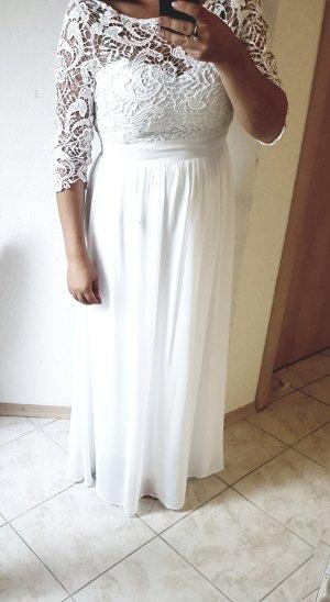 Brautkleid weiß Spitze 40