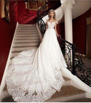 100% Fashion Vestido de novia blanco