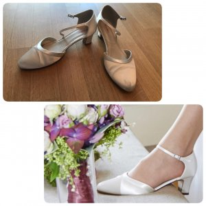 newest collection 34a63 4edd0 Brautschuh Rainbow Club Anika Gr. 38 Satin Ivory