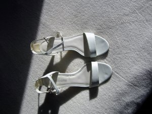 Bellissima Strapped High-Heeled Sandals white leather