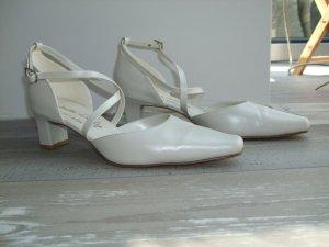 Brautschuhe aus Leder cremefarben hochwertig