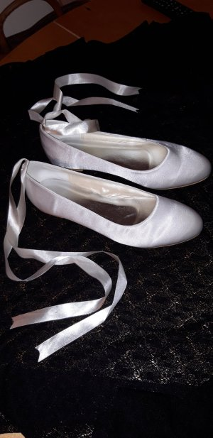 Bailarinas con tacón Mary Jane blanco