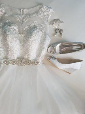 Brautschuhe Elfenbein Strass