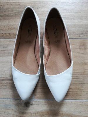 Brautschuhe flach / Ballerinas / weiß