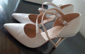 Brautschuhe Hochzeitsschuhe High Heels echtes Leder weiß 37 Zign