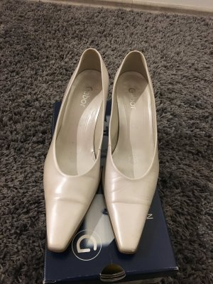 Gabor Pointed Toe Pumps oatmeal leather