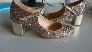 Mary Jane pumps goud
