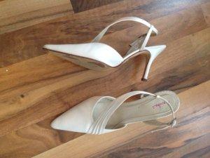 Brautschuhe Rainbow Schuhe (Elsa Coloured Shoes) Gr.38,5 Riemchenschuhe creme