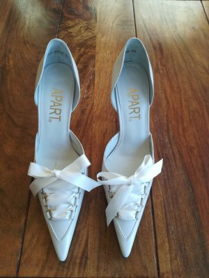 Apart Pointed Toe Pumps natural white-cream