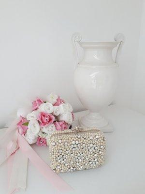 Brauttasche / Party Clutch aus Strass & Perlen / Handtasche
