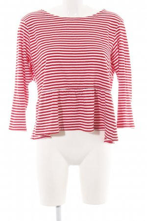 Brave Soul Longsleeve red-white striped pattern casual look