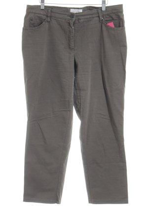Brax Pantalone a 3/4 grigio-verde stile casual