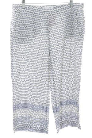 Brax Pantalone a 3/4 bianco-blu stampa azteca