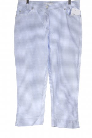 Brax 3/4 Length Trousers white-azure check pattern street-fashion look