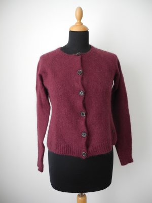 Brax Angora Wolle Cardigan bordeaux weinrot Strick Herbst Winter