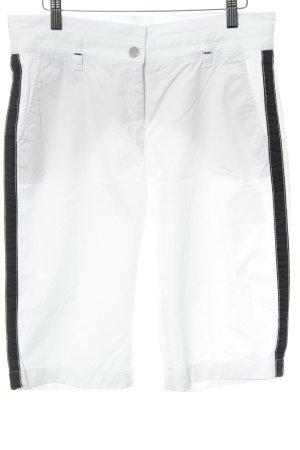 Brax Bermuda bianco-nero motivo a righe stile casual