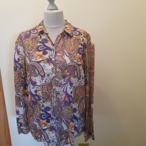 Brax Bluse Gr. 42 top Zustand violett Paisleymuster
