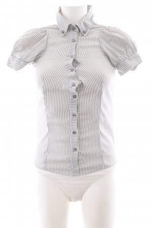Brax Bodysuit Blouse light grey-white striped pattern casual look