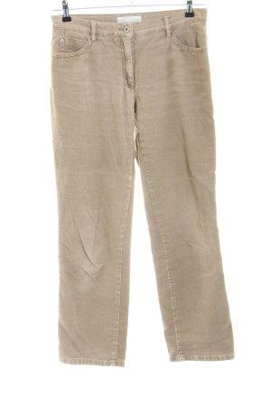 Brax Pantalón de pana blanco puro look casual