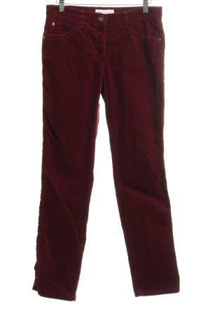 Brax Pantalone di velluto a coste bordeaux Stile anni '90