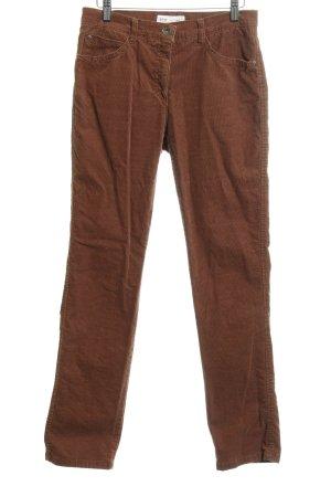 Brax Pantalon en velours côtelé chameau style des années 90