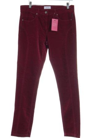 Brax Corduroy Trousers dark red casual look