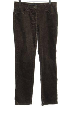 Brax Pantalon en velours côtelé gris brun style décontracté