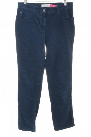 Brax Pantalon en velours côtelé bleu pétrole style décontracté