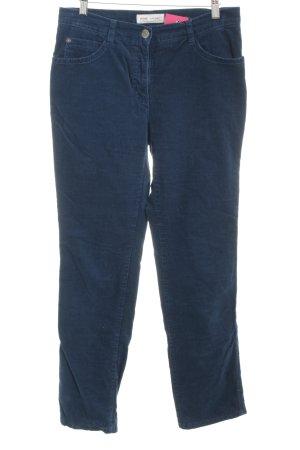 Brax Corduroy Trousers petrol casual look