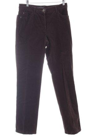 Brax Pantalón de pana marrón-negro estilo sencillo