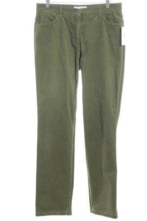 Brax Corduroy broek bos Groen casual uitstraling