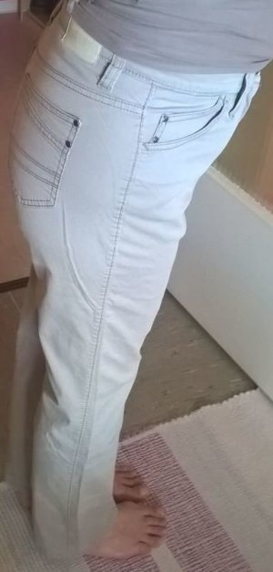 Brax Damen Jeans Hose Beige Denim Gr. M
