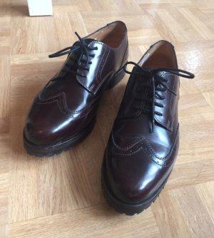 BRAX dandy schnürer Schuhe gr. 39 dunkelrot Blogger Echtleder