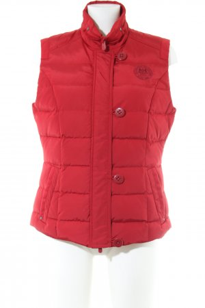Brax Down Vest red quilting pattern casual look