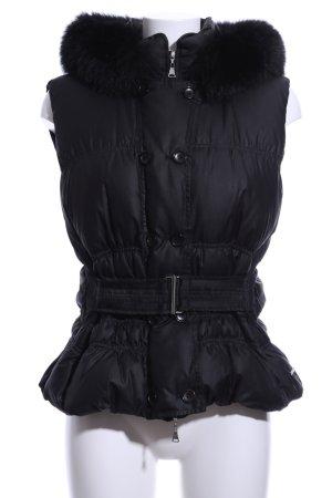 Brax Down Vest black quilting pattern casual look