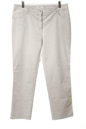 Brax Pantalone cinque tasche beige chiaro stile casual
