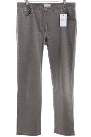 Brax Pantalone cinque tasche verde oliva-cachi stile semplice