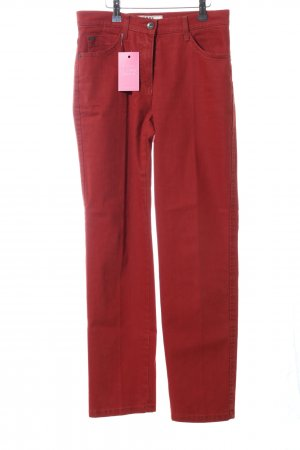 Brax High Waist Trousers red casual look