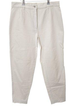 Brax Hoge taille broek licht beige Jaren 90 stijl