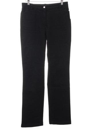 Brax Pantalone a vita alta nero stile semplice