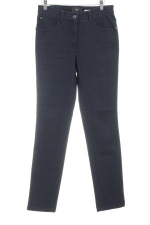 Brax Hoge taille jeans donkerblauw-grijs-bruin Gemengd weefsel