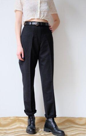 BRAX highwaist bundfaltenhose stoffhose wolle schwarz M 40 42