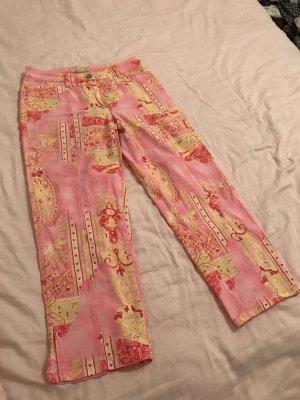 BRAX Hose 3/4 Capri mit Muster 36 pink rosa