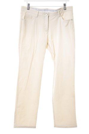 Brax Pantalone a vita bassa beige chiaro stile casual