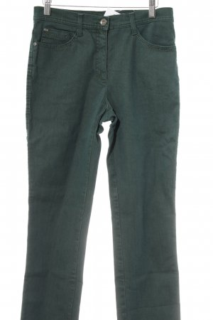 Brax Low-Rise Trousers forest green extravagant style