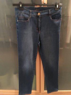 Brax Peg Top Trousers dark blue-slate-gray