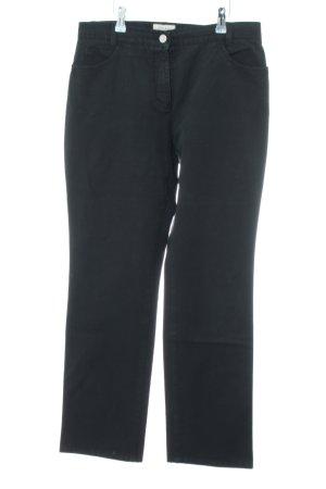 Brax Peg Top Trousers black casual look