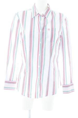 Brax Shirt met korte mouwen gestreept patroon vintage uitstraling